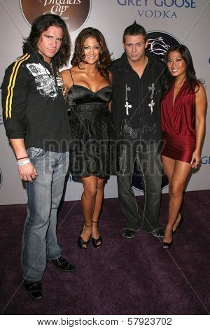 Steve Morrison and Eva Torres with The Miz and Lena Yada  at the 2008 Breeders' Cup Winners Circle Gala. Hollywood Palladium, Hollywood, CA. 10-23-08