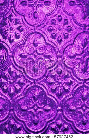 Purple textured background of Moroccan Glass