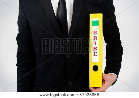 Business Man With Dossier