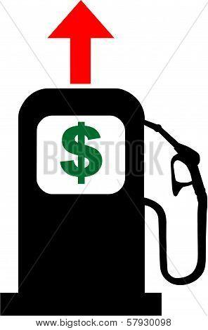 Petrol Pump and Dollar Sign