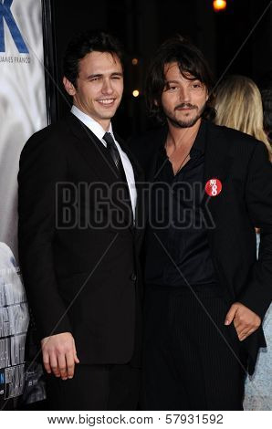 James Franco and Diego Luna  at the Focus Features World Premiere of MILK, The Castro Theatre, San Francisco, CA. 10-28-08