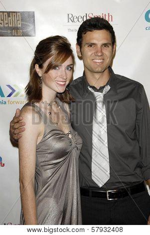 Katy Nida and Carlos Stevens  at the 2008 Donkaphant Film Festival, Skirball Cultural Center, Los Angeles, CA. 10-29-08