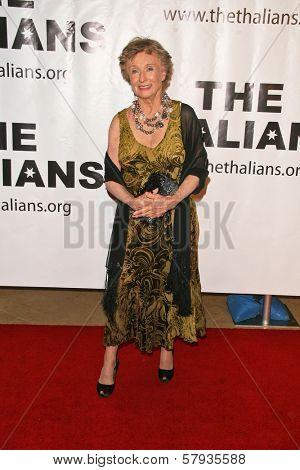 Cloris Leachman  at the Thalians 53rd Anniversary Ball, honoring Clint Eastwood, to benefit  Cedars-Sinai Medical Center, Beverly Hilton Hotel, Beverly Hills, CA. 11-02-08