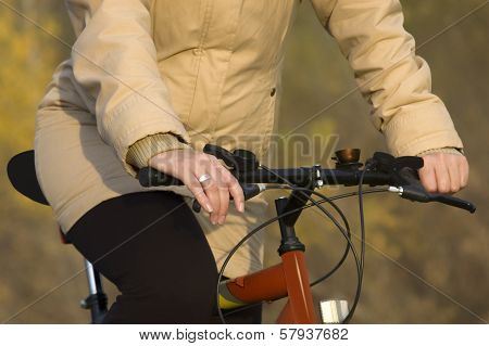 Recreational Bicycle Riding In The Nature