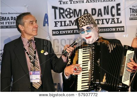 Lloyd Kaufman and Count Smokula  at the Press Conference for the 10th Anniversary Troma Dance Film Festival. American Film Market, Lowes Santa Monica Beach Hotel, Santa Monica, CA. 11-06-08