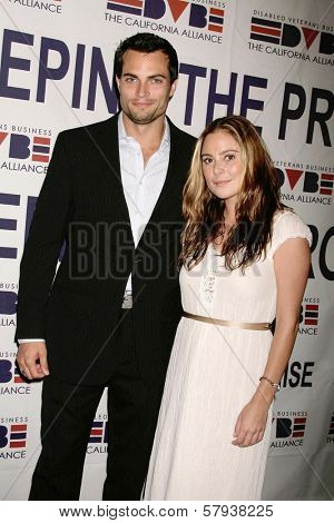 Scott Elrod and Amanda Brooks  at the Annual 'Keeping the Promise To our Vietnam Heroes' Breakfast Honoring Veterans. Sheraton Gateway LAX, Los Angeles, CA. 11-07-08