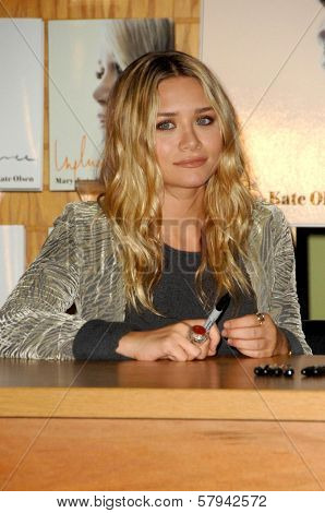 Mary-Kate Olsen  at an in store appearance to sign copies of the new book 'Influence'. Borders Books and Music, Westwood, CA. 11-12-08