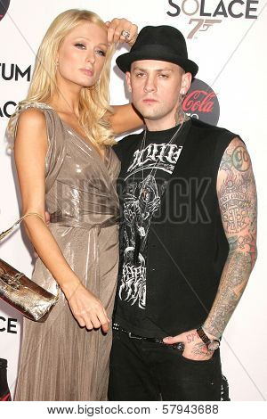 Paris Hilton and Benji Madden  at a Special Screening of 'Quantum of Solace'. Sony Pictures, Culver City, CA. 11-13-08