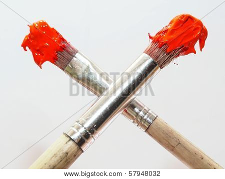 Two Paintbrushes