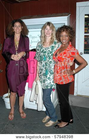 Pippa Small with Laura Dern and Alfre Woodard  at the Opening Party for the Pippa Small Jewellery Store. Pippa Small Jewellery, Santa Monica, CA. 11-19-08