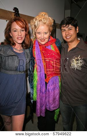 Jenny McShane, Sally Kirkland and Paul Cruz  at an AMA Gifting Suite by ShoeDazzle.com, Gibson Guitars, Beverly Hills, CA 11-21-08
