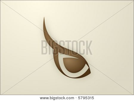Vector Owl Eye