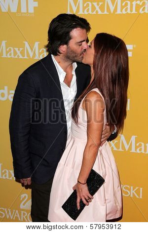 Adam Kaufman, Poppy Montgomery at the Women In Film Crystal + Lucy Awards 2012, Beverly Hilton Hotel, Beverly Hills, CA 06-12-12