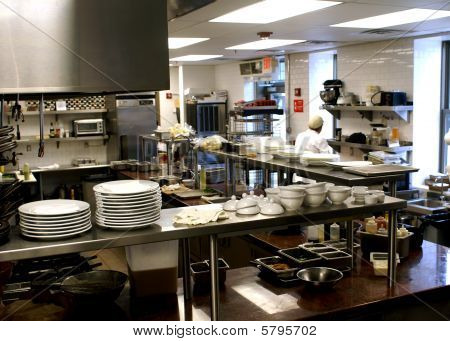 Restaurant Food Preparation Area