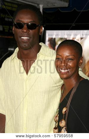 Isaiah Washington and wife Jenisa  at the Los Angeles Premiere of