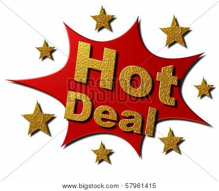 Explosion Red & Gold Stars - Hot Deal