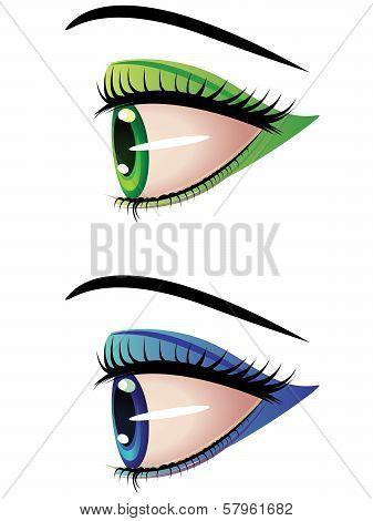 Eyes In Profile