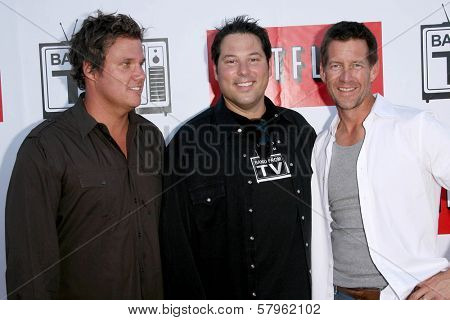 Bob Guiney with Greg Grunberg and James Denton  at 'Band From TV' Presented by Netflix Live. The Autry National Center Of The American West, Los Angeles, CA. 08-09-08
