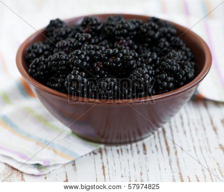 Bowl Of Blackberries