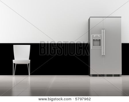 Chair and refridgerator