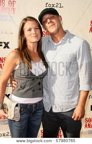 Melissa Claire Egan and Theo Rossi  at the Premiere Screening of 'Sons of Anarchy'. Paramount Theater, Hollywood, CA. 08-24-08