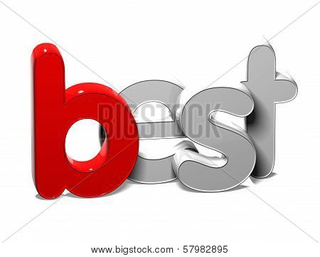 3D Word Best On White Background
