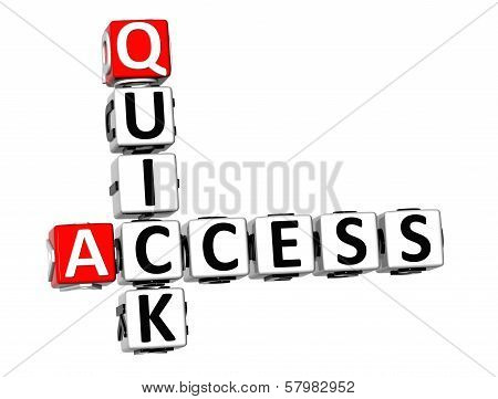 3D Quick Access Crossword