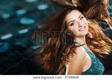 Beautiful Girl In A Nightclub Scene