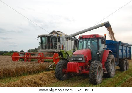 Combine with Tractor