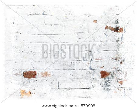 White Grungy Bricks Background