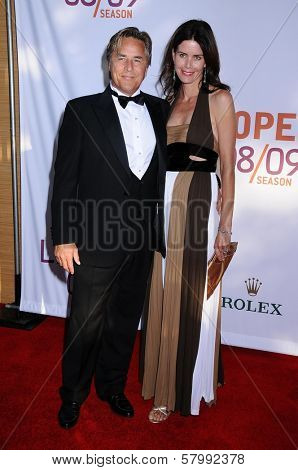 Don Johnson and Wife Kelley  at the Opening Night of the LA Opera 2008-09 Season. Dorothy Chandler Pavilion, Los Angeles CA. 09-06-08