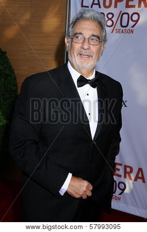 Placido Domingo  at the Opening Night of the LA Opera 2008-09 Season. Dorothy Chandler Pavilion, Los Angeles CA. 09-06-08