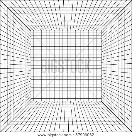 background with a perspective grid.