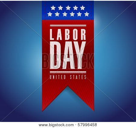 Labor Day Banner Sign Illustration Design