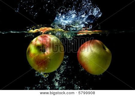 Apples Falling To The Water