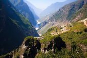 stock photo of leaping  - Scenery of Tiger leaping gorge - JPG