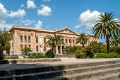 stock photo of messina  - View at the Palazzo Zanca in Messina  - JPG