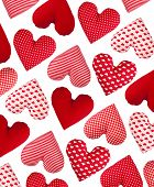 stock photo of oblique  - Oblique pattern made of hearts - JPG