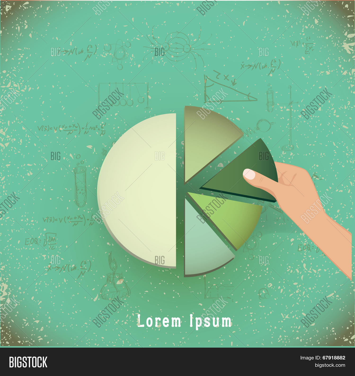 Hand putting last piece pie chart vector photo bigstock hand putting the last piece of a pie chart on place partnership teamwork nvjuhfo Image collections