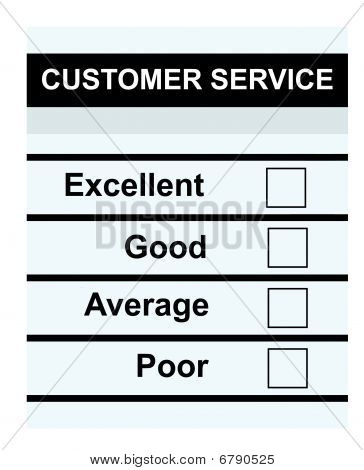 Blank Customer Service Form