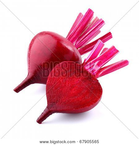 Fresh beet on a white background