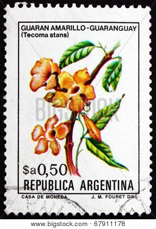 Postage Stamp Argentina 1983 Yellow Trumpetbush, Tecoma Stans