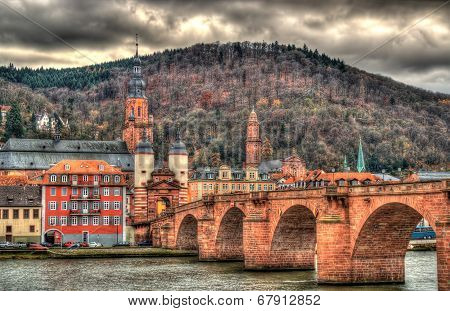 View Of Heidelberg With Alte Brucke - Baden-württemberg, Germany