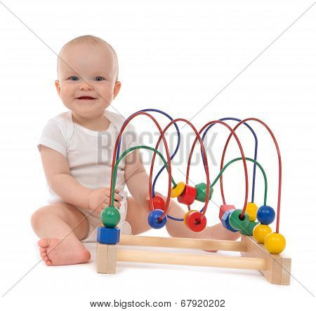 Infant Child Baby Toddler Standing And Playing Wooden Educational Toy