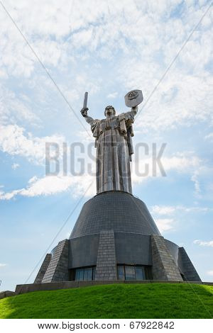 Monumental Statue Mother Motherland In Kiev, Ukraine
