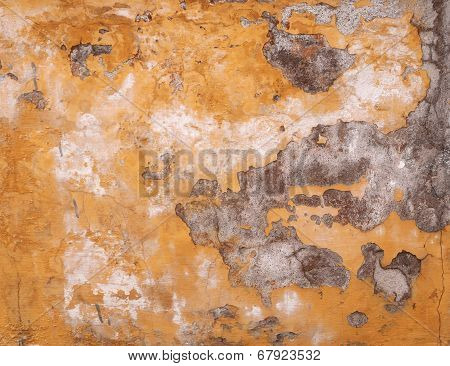 Texture Of Old Yellow Wall