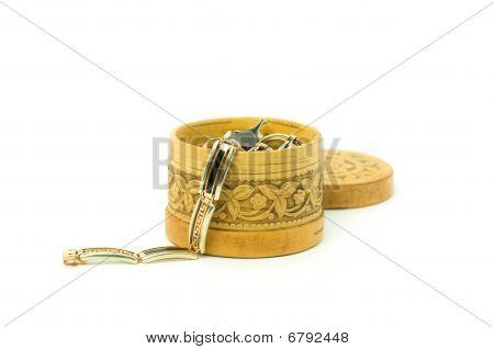 Birch Bark Jewelry Casket
