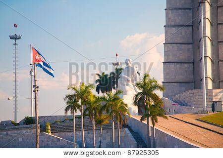 Jese Marti Memorial In Revolution Square, Havana, Cuba