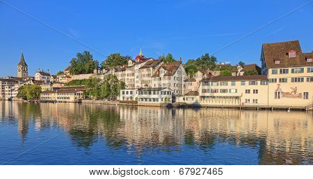 Zurich, View On The Limmat River
