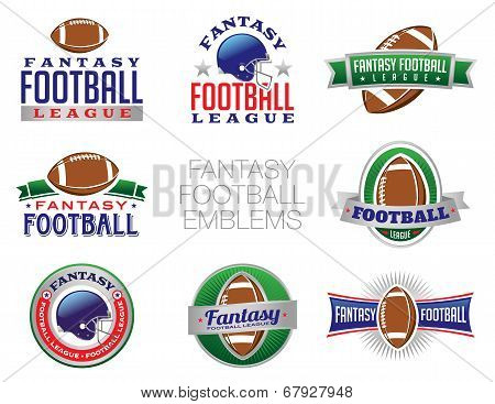 Fantasy Football Emblem Illustrations